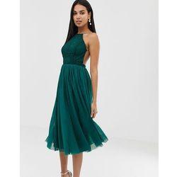 b3a66d0138 lace top tulle midi dress - multi marki Asos design