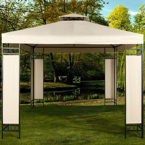 Wideshop Stalowy mocny pawilon 3x3 kremowy namiot ogrodowy