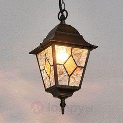 Brilliant Jason Zewnętrzna Lampa Wisząca Czarny Rudy