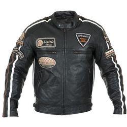 a66df7db62f21 Męska skórzana kurtka motocyklowa W-TEC Sheawen, Czarny, 4XL (8596084064318)
