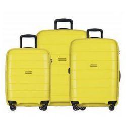 f6f2abda573e6 Puccini Komplet madagaskar walizki walizka duża + średnia + mała/ kabinowa  twarda zestaw z kolekcji madagascar zwpp013 4 koła zamek szyfrowy tsa  materiał ...