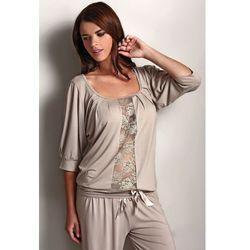 Luisa moretti Damska bambusowa piżama serena beżowy l