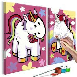 Artgeist Obraz do samodzielnego malowania - jednorożce