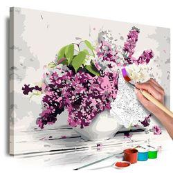 Obraz do samodzielnego malowania - wazon i kwiaty marki Artgeist