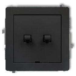 DECO Łącznik świecznikowy w stylu amerykańskim czarny mat 12DWPUS-2 (5901832007777)