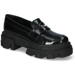 Mokasyny Carinii B5977-070-E33 Czarne lakier, kolor czarny