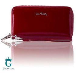 Duży portfel damski z dwiema kieszeniami zapinanymi na zamek marki Pierre cardin