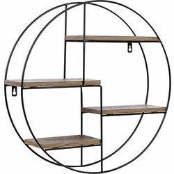 Metalowa półka regał okrągły wiszący ścienny loft marki Stilista ®