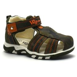 Wojtyłko Zabudowane sandały dla dzieci 41121 khaki (5908243008867)