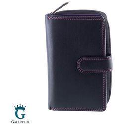 Wiśniowy portfel damski zapinany na zatrzask Carmelo R13, R-13