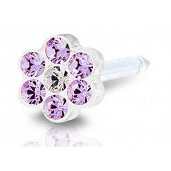 Blomdahl daisy violet / crystal 5 mm