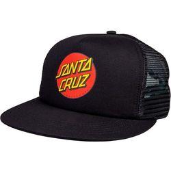 Czapka z daszkiem - classic dot mesh cap black/black (black-black) marki Santa cruz