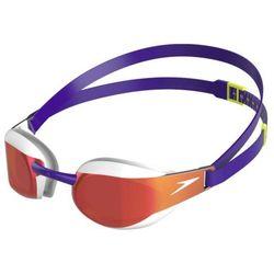 Speedo okulary fastskin 3 elite mirror purple-white, kolor: purple, typ soczewki: mirror