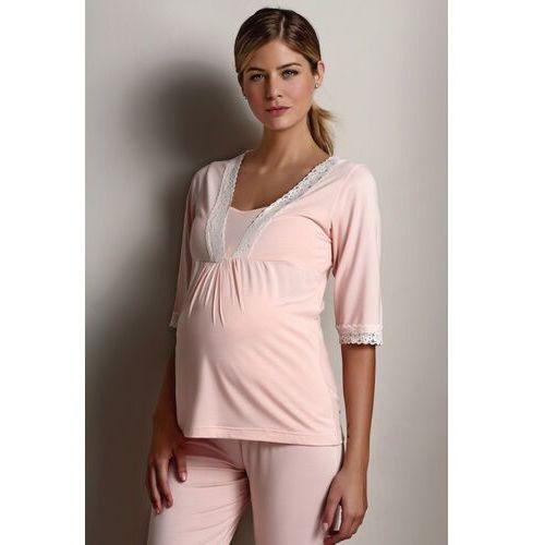Ciążowa piżama angela l łososiowy marki Luisa moretti
