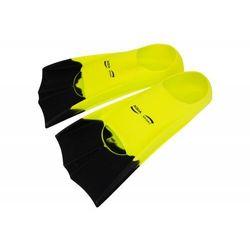 Aqua-sport płetwy krótkie senior swim fins, kolor: yellow, długość pióra: krótkie, rozmiar płetw: 38-41
