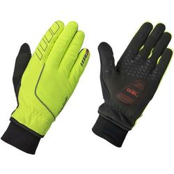 GripGrab Windster Hi-Vis Wodoodporne rękawiczki na zimę Mężczyźni, fluo yellow XXL 2019 Rękawiczki zimowe
