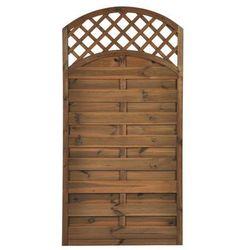 Naterial Płot szczelny z łukiem i kratką 90x180 cm drewniany nive (5901171178701)