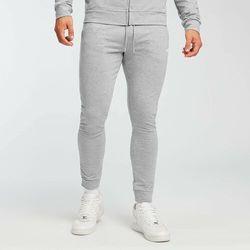 Mp Męskie spodnie dresowe form – szary melanż - l