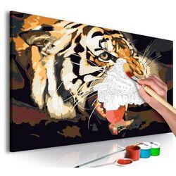 Artgeist Obraz do samodzielnego malowania - ryczący tygrys