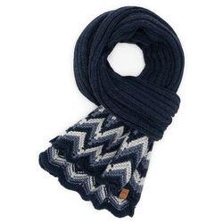 Granatowy modny szal damski zimowy s3 brodrene (5901764753995)