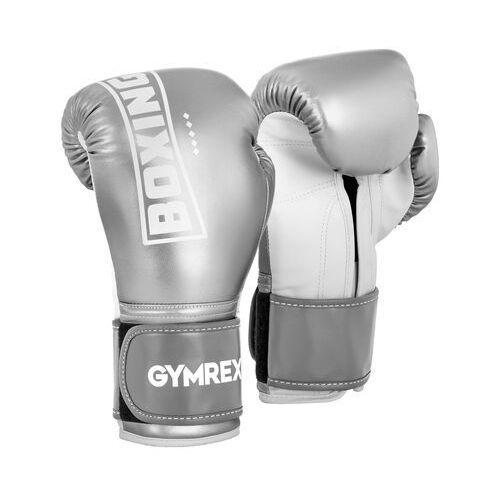 Rękawice bokserskie - 12 oz - srebrny metalik marki Gymrex