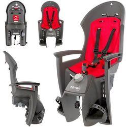 Fotelik rowerowy siesta czerwono-szary darmowy transport marki Hamax
