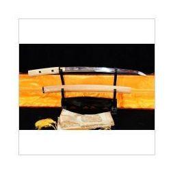 Kuźnia mieczy samurajskich Miecz samurajski shirasaya honsanmai stal wysokowęglowa 1095 i warstwowana, hartowany glinką, r786