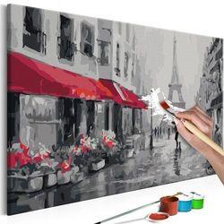 Obraz do samodzielnego malowania - paryż skąpany w deszczu marki Artgeist