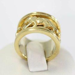 Złoty pierścionek P1086, kolor żółty