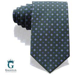 Zieony włoski krawat jedwabny 14828/7 marki Arcuri